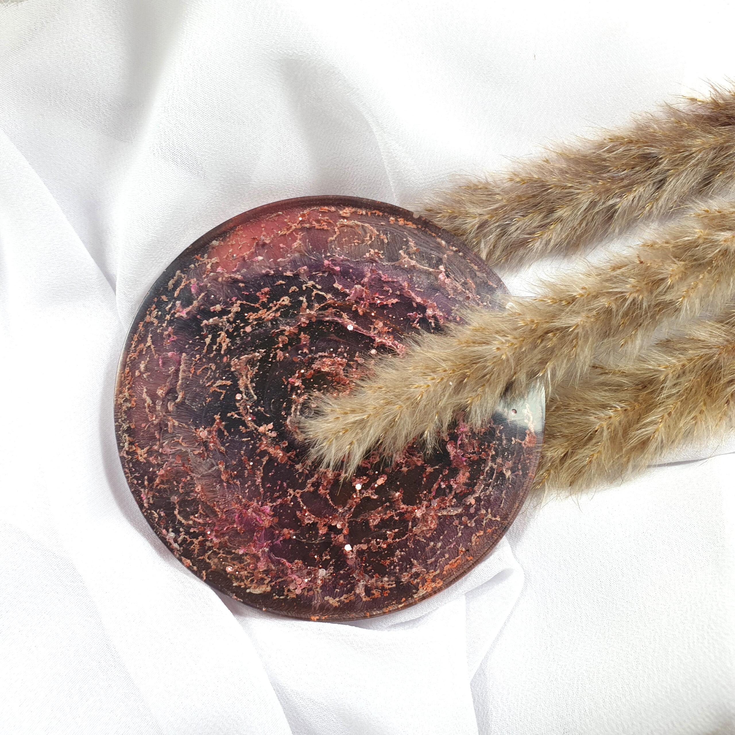 Podkładka czarno-różowa - Smocze Skarby