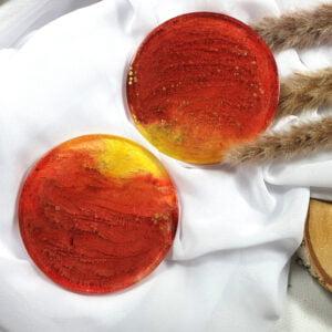 Podkładki czerwono-żółte, para