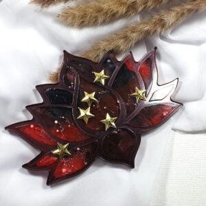 Podkładka Lotos czarno-czerwona - Smocze Skarby