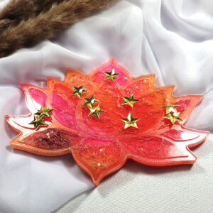 Podkładka Lotos różowo-pomarańczowy - Smocze Skarby