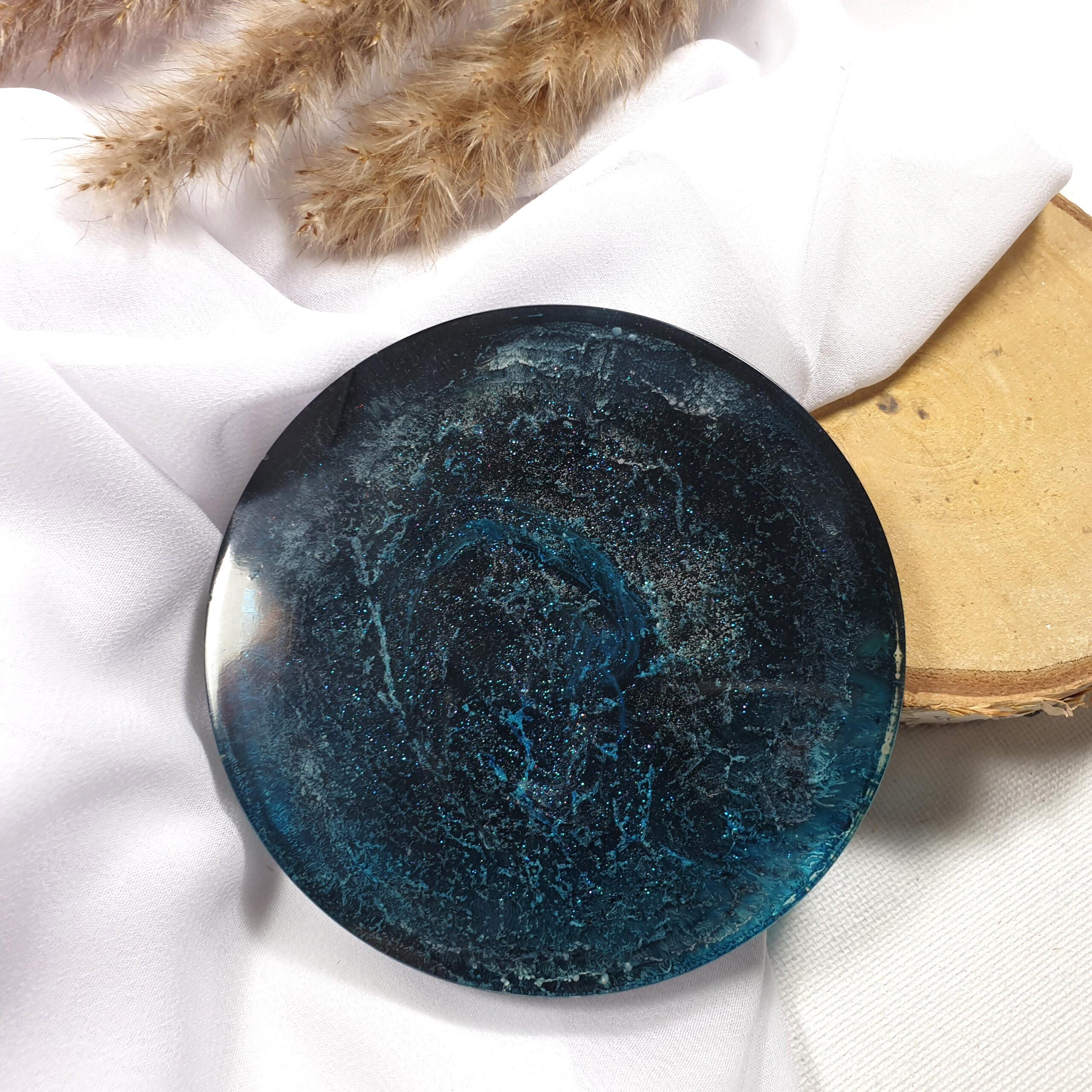 Skrząca podkładka czarno-niebieska - Smocze Skarby