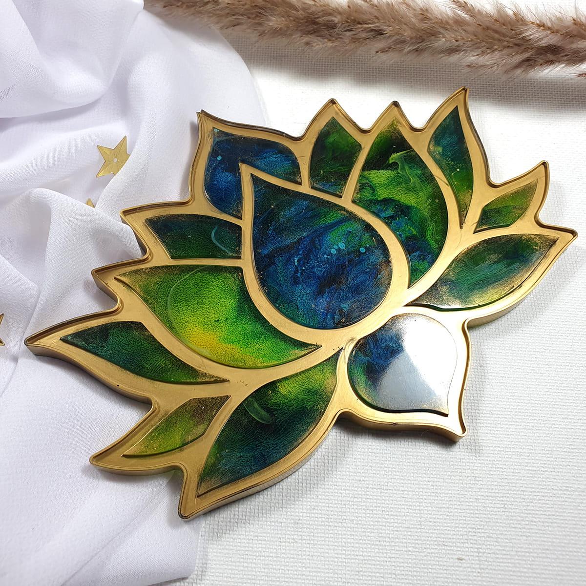 Lotos niebiesko-zielony - Smocze Skarby