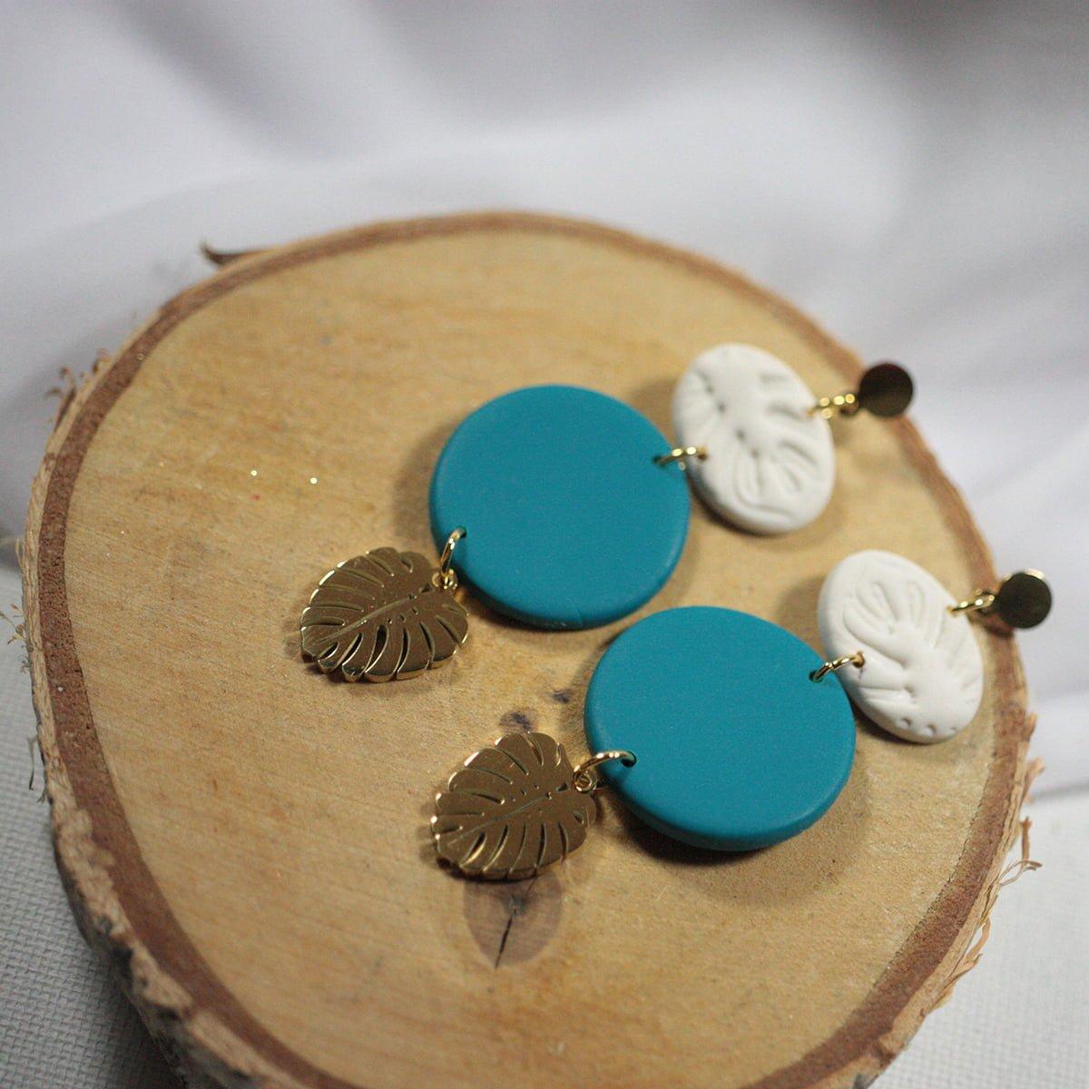 Błękitna Laguna - Kolczyki XII - Smocze Skarby