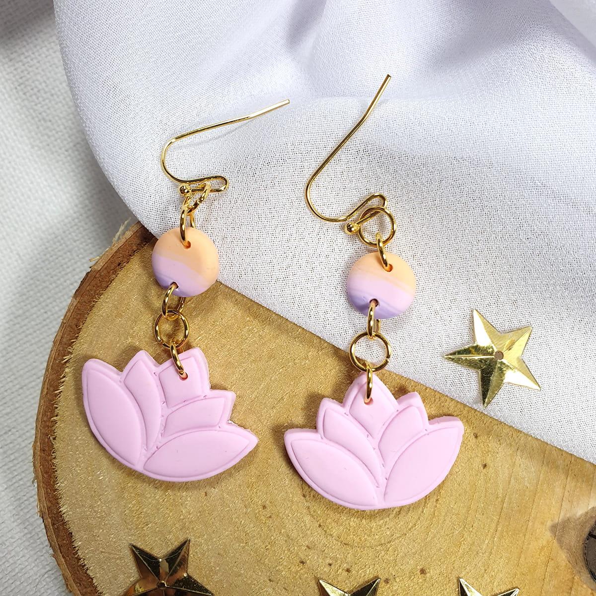 Kolczyki różowe Pastelowy Ogród - Smocze Skarby