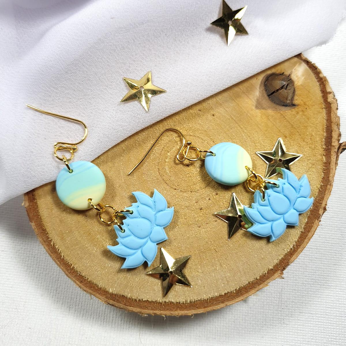 Kolczyki niebieskie Pastelowy Ogród - Smocze Skarby