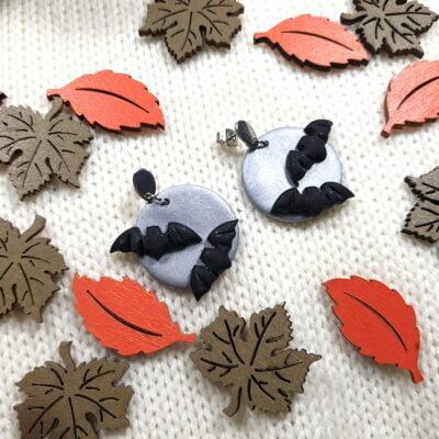 Kolczyki z nietoperzami z kolekcji Wiedźmi Czas - Smocze Skarby
