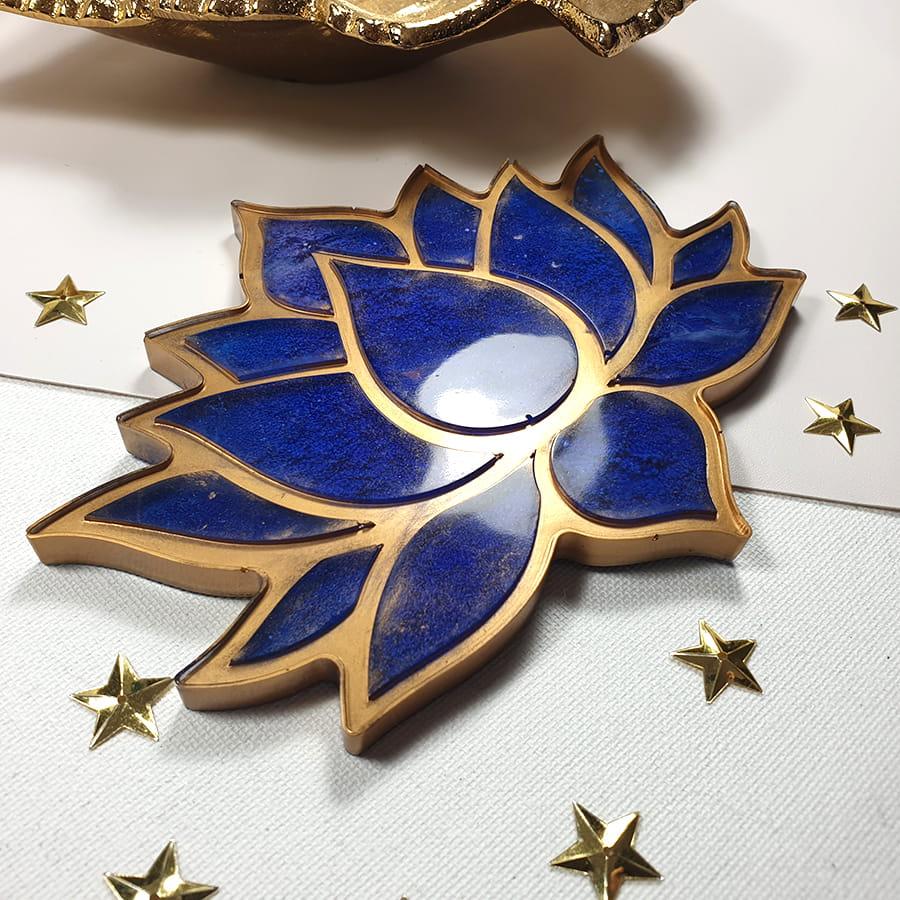 Podkładka Lotos niebiesko-złoty - Smocze Skarby