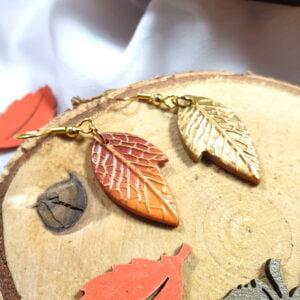 Jesienne kolczyki liściaste - Smocze Skarby