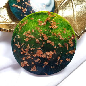 Podkładki zielone, para - Okrągło Mi - Smocze Skarby